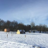 Glamping Pods in Winter